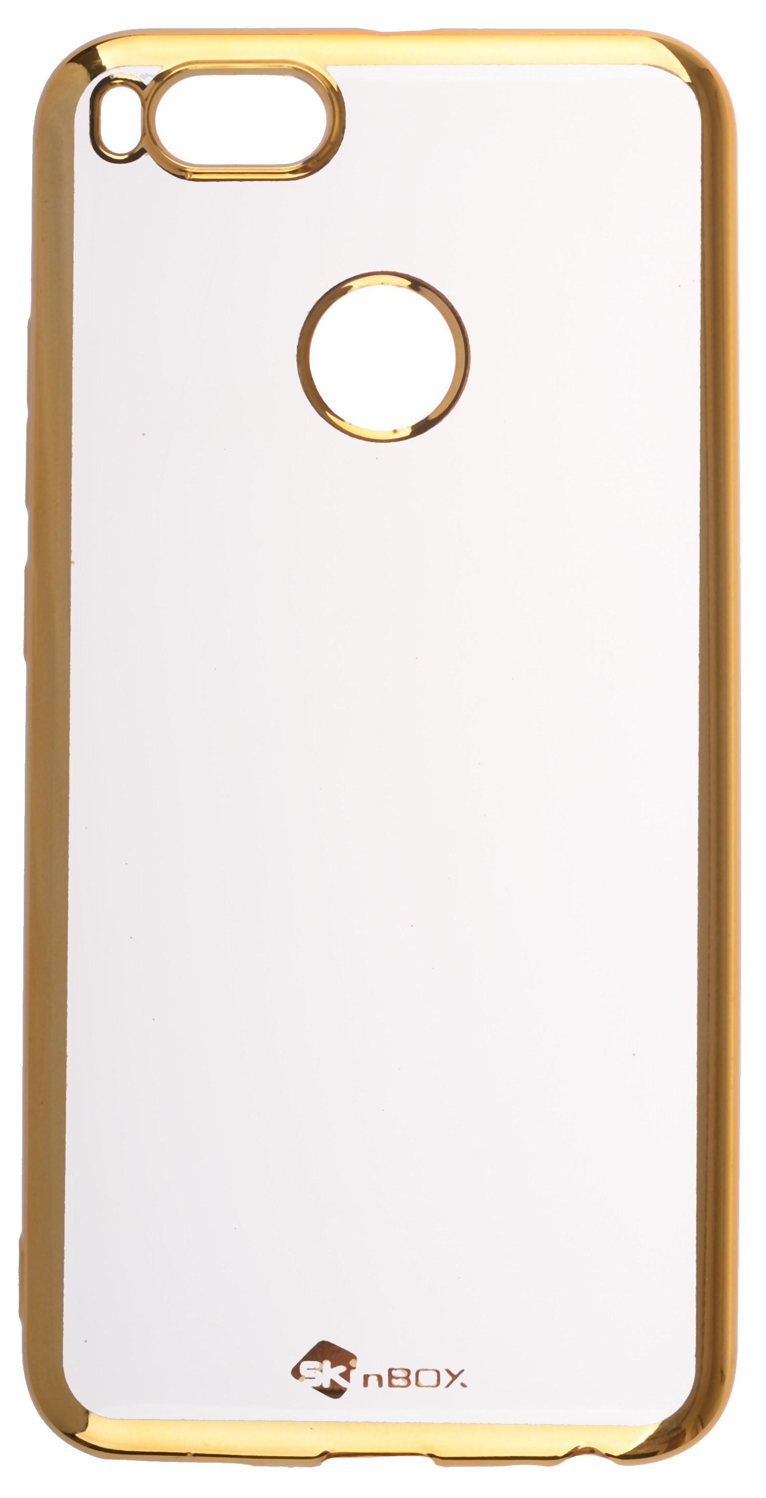Чехол для сотового телефона skinBOX Silicone chrome border, 4660041409376, золотой skinbox 4people slim silicone чехол накладка для xiaomi redmi 4a transparent