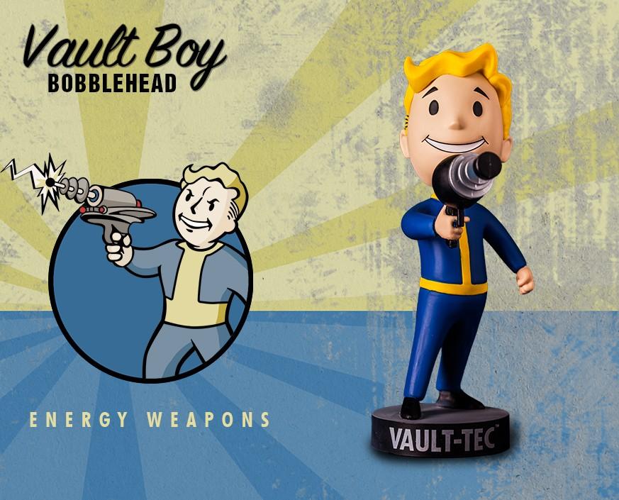 Фото - Фигурка Gaming Heads Fallout 4 Vault Boy Bobblehead Series 1 Energy Weapons, 81363 фигурка fallout vault boy 111 bobbleheads series one melee weapons 13 см