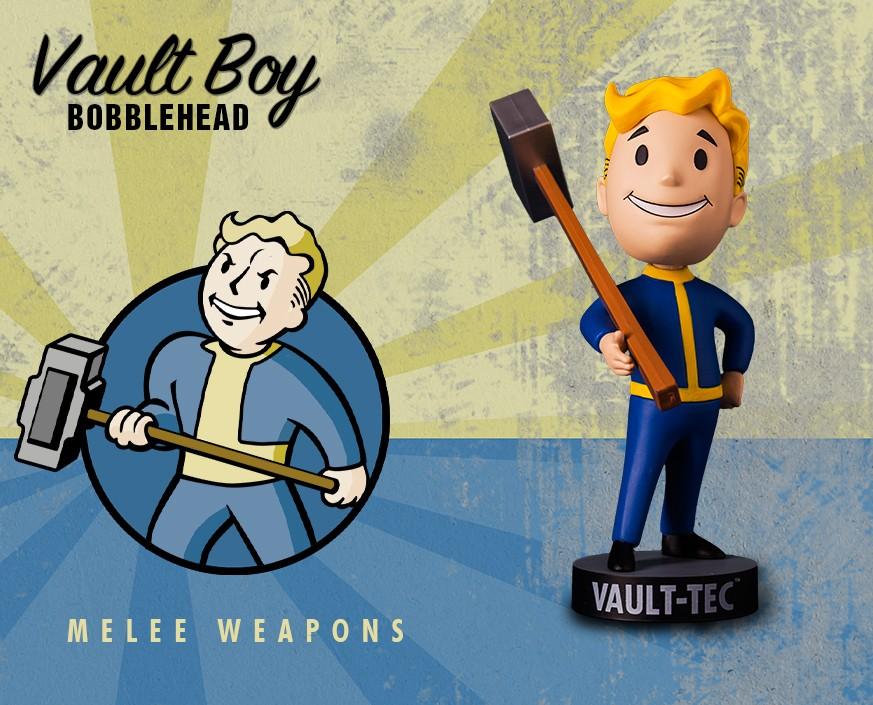 Фото - Фигурка Gaming Heads Fallout 4 Vault Boy Bobblehead Series 1 Melee Weapons, 81370 фигурка fallout vault boy 111 bobbleheads series one melee weapons 13 см