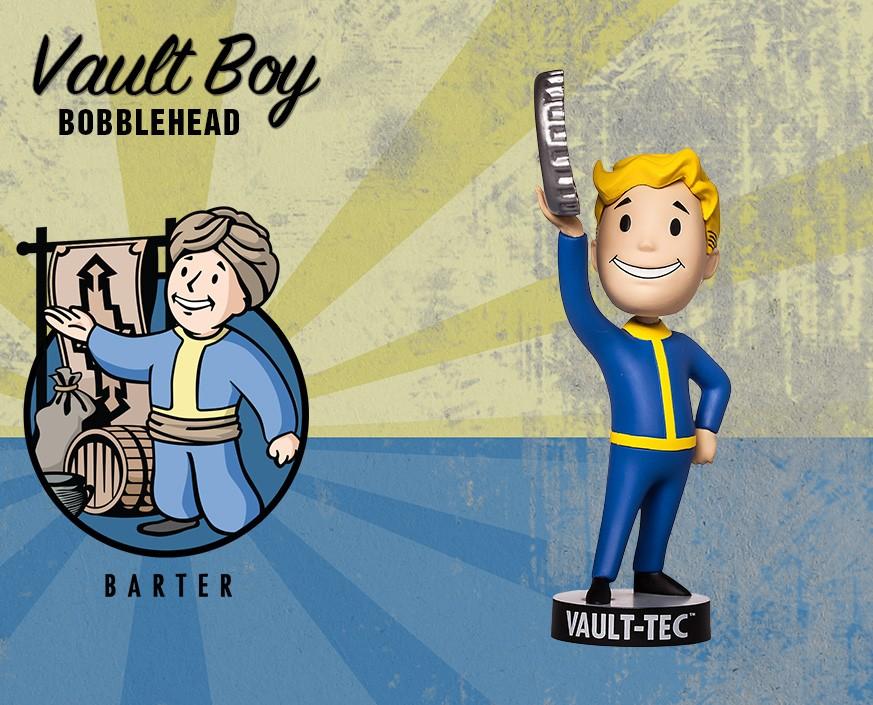 Фото - Фигурка Gaming Heads Fallout 4 Vault Boy Bobblehead Series 2 Barter, 81622 фигурка fallout vault boy 111 bobbleheads series one melee weapons 13 см