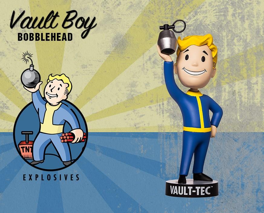 Фото - Фигурка Gaming Heads Fallout 4 Vault Boy Bobblehead Series 2 Explosives, 81646 фигурка fallout vault boy 111 bobbleheads series one melee weapons 13 см