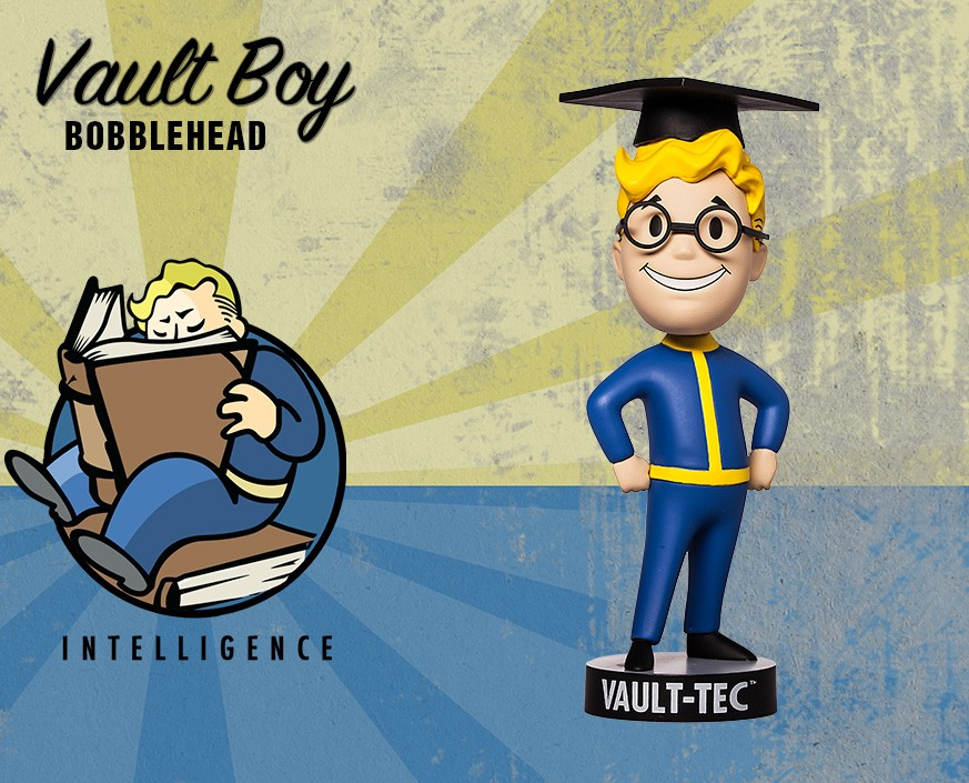 Фото - Фигурка Gaming Heads Fallout 4 Vault Boy Bobblehead Series 2 Intelligence, 81653 фигурка fallout vault boy 111 bobbleheads series one melee weapons 13 см