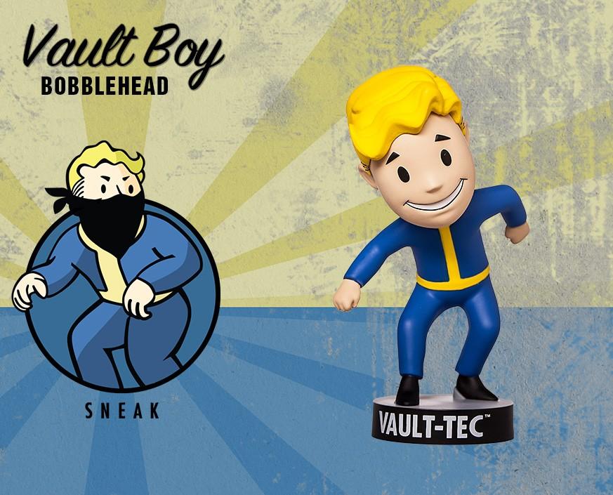 Фото - Фигурка Gaming Heads Fallout 4 Vault Boy Bobblehead Series 2 Sneak, 81660 фигурка fallout vault boy 111 bobbleheads series one melee weapons 13 см
