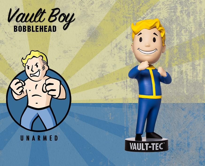 Фото - Фигурка Gaming Heads Fallout 4 Vault Boy Bobblehead Series 2 Unarmed, 81684 фигурка fallout vault boy 111 bobbleheads series one melee weapons 13 см