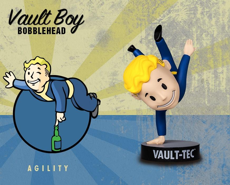 Фигурка Gaming Heads Fallout 4 Vault Boy Bobblehead Series 3 Agility, 81721 цена