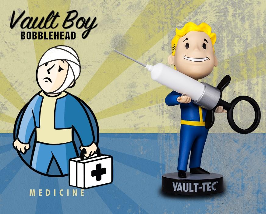 Фото - Фигурка Gaming Heads Fallout 4 Vault Boy Bobblehead Series 3 Medicine, 81769 фигурка fallout vault boy 111 bobbleheads series one melee weapons 13 см