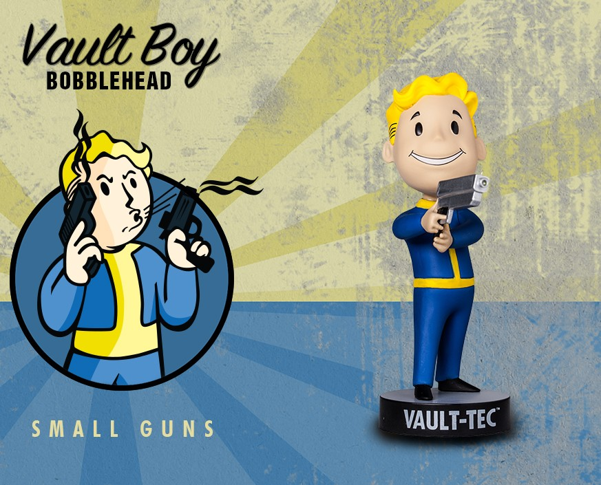 Фигурка Gaming Heads Fallout 4 Vault Boy Bobblehead Series 3 Small Guns, 81783 цена