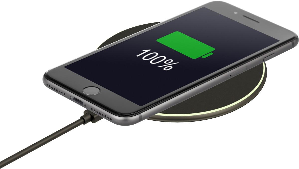лучшая цена Беспроводное зарядное устройство Interstep QI 10W IS-TC-QICHRB10W-000B201, черный