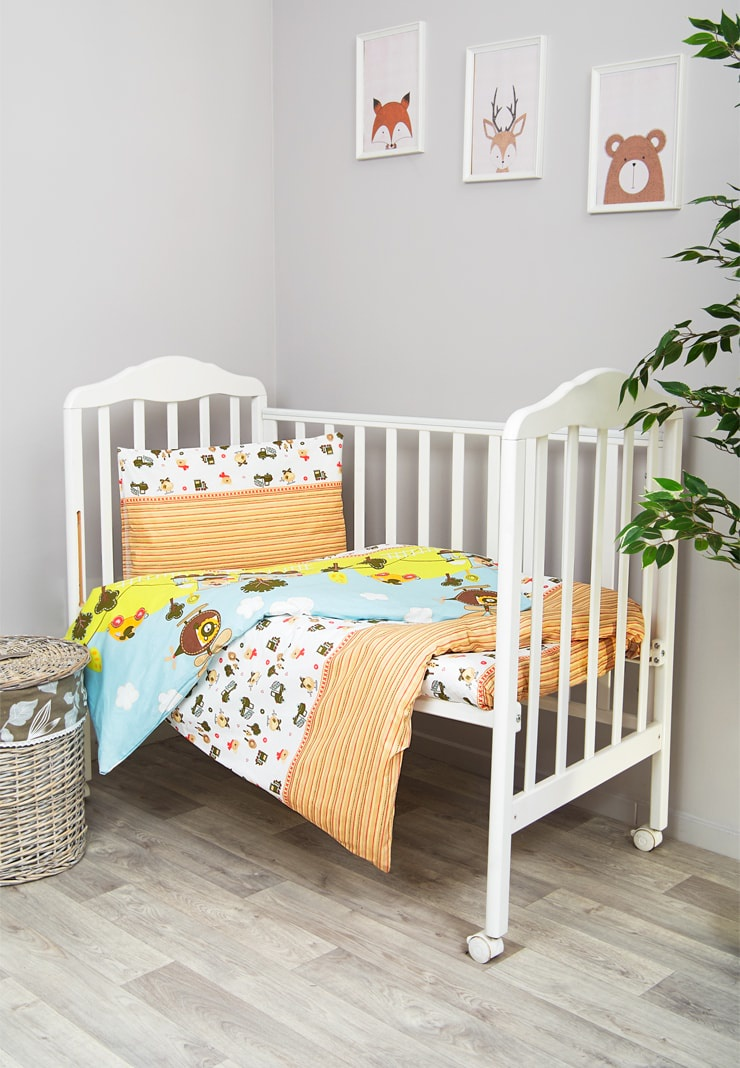 цена Комплект белья для новорожденных Сонный гномик Каникулы, голубой онлайн в 2017 году