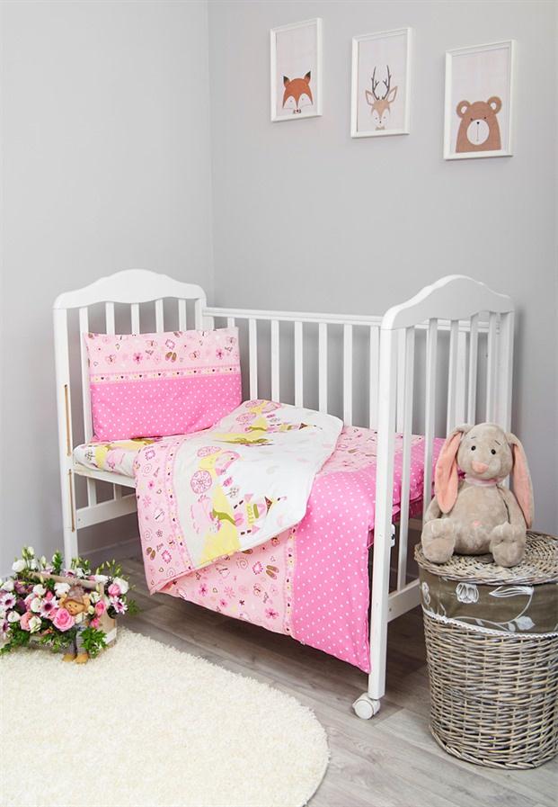 Комплект белья для новорожденных Сонный гномик Золушка, розовый
