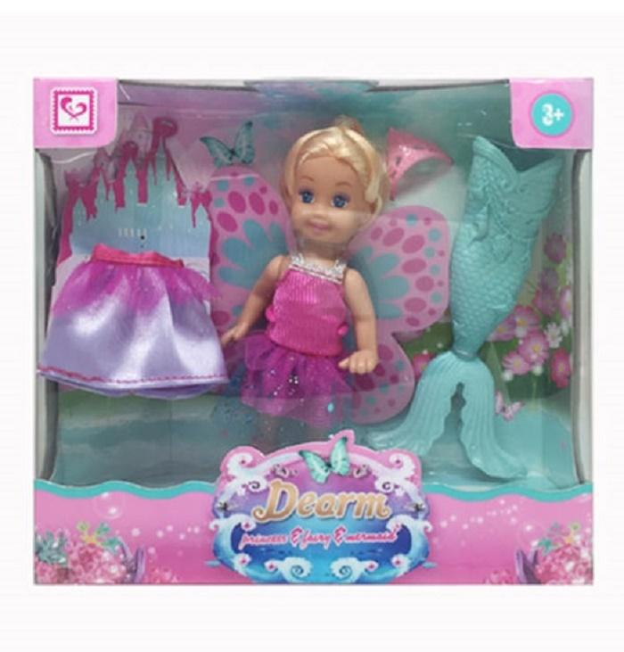 Мини-кукла No Name K102709 3в1 с аксессуарами, 1124673 розовый, бирюзовый мини кукла no name k080189 с мотоциклом и аксессуарами 1006440 розовый