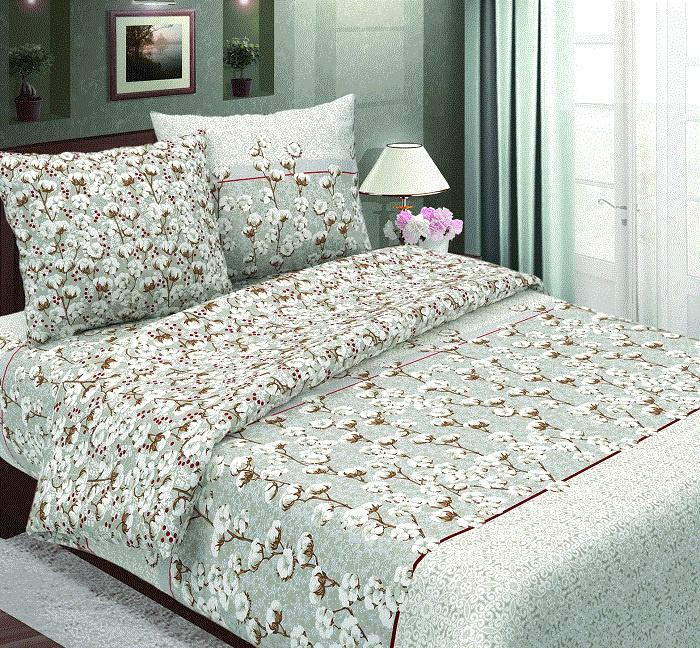 Комплект постельного белья ТК Традиция Традиция, для сна и отдыха, 1104/Хлопок, белый, серый, коричневый