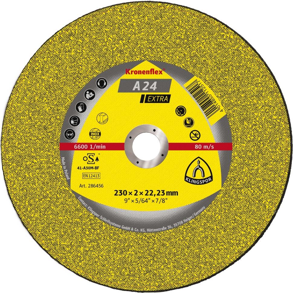 Круг отрезной Klingspor 13490, Абразив круг отрезной луга абразив 180x2 5x32 с30 упак 25 шт