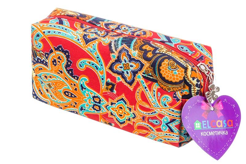 Косметичка EL Casa Восточные узоры, 790129, красный, синий el casa косметичка сумочка розовая