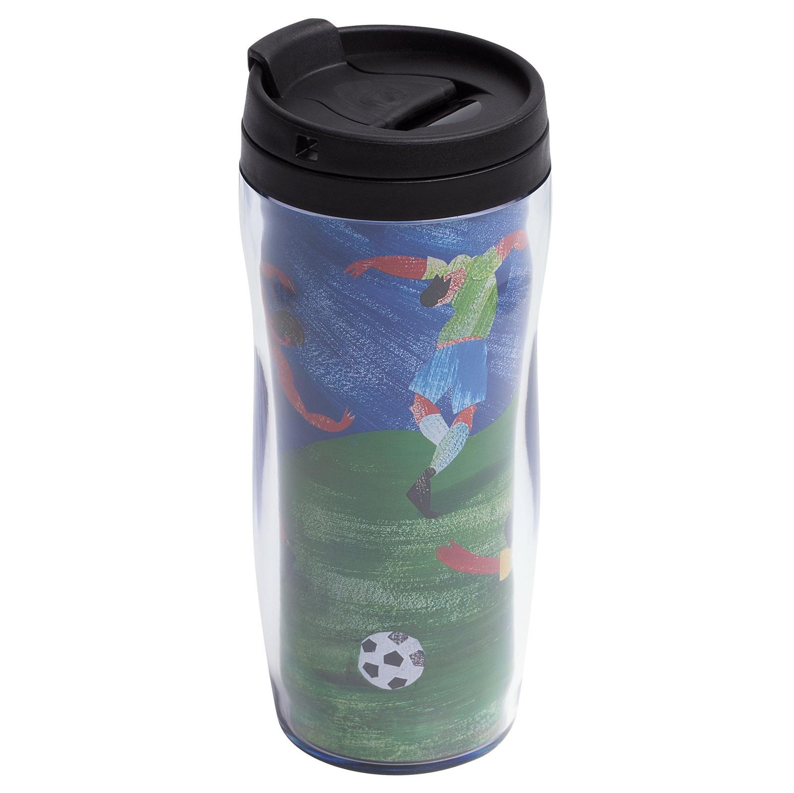 Термокружка Принтэссенция Термостакан «Футбол via Матисс», 7414.30, черный, синий, зеленый