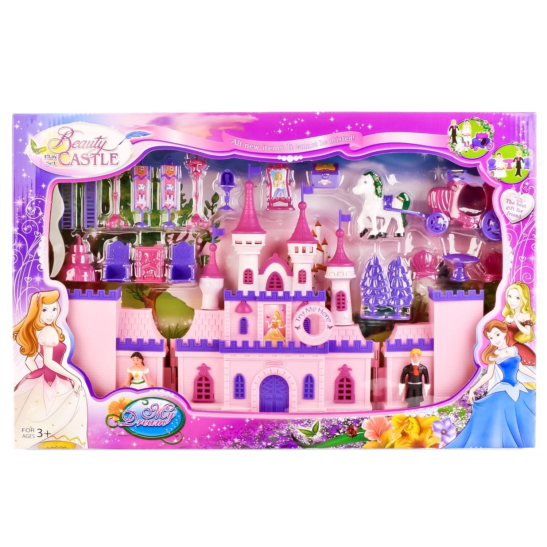 Дом для кукол No Name 238904, 238904 розовый мини кукла no name k080189 с мотоциклом и аксессуарами 1006440 розовый