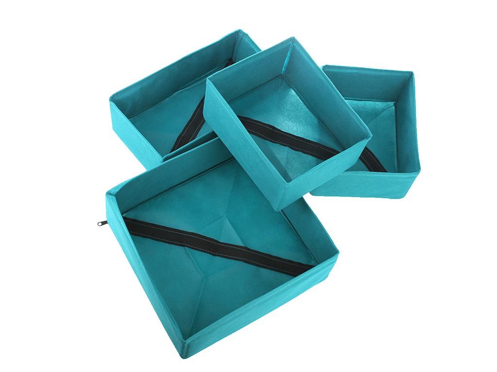 Коробка для хранения Рыжий кот П-22, 312510бирюзовый коробка рыжий кот 33х20х13см 8 5л д хранения обуви пластик с крышкой