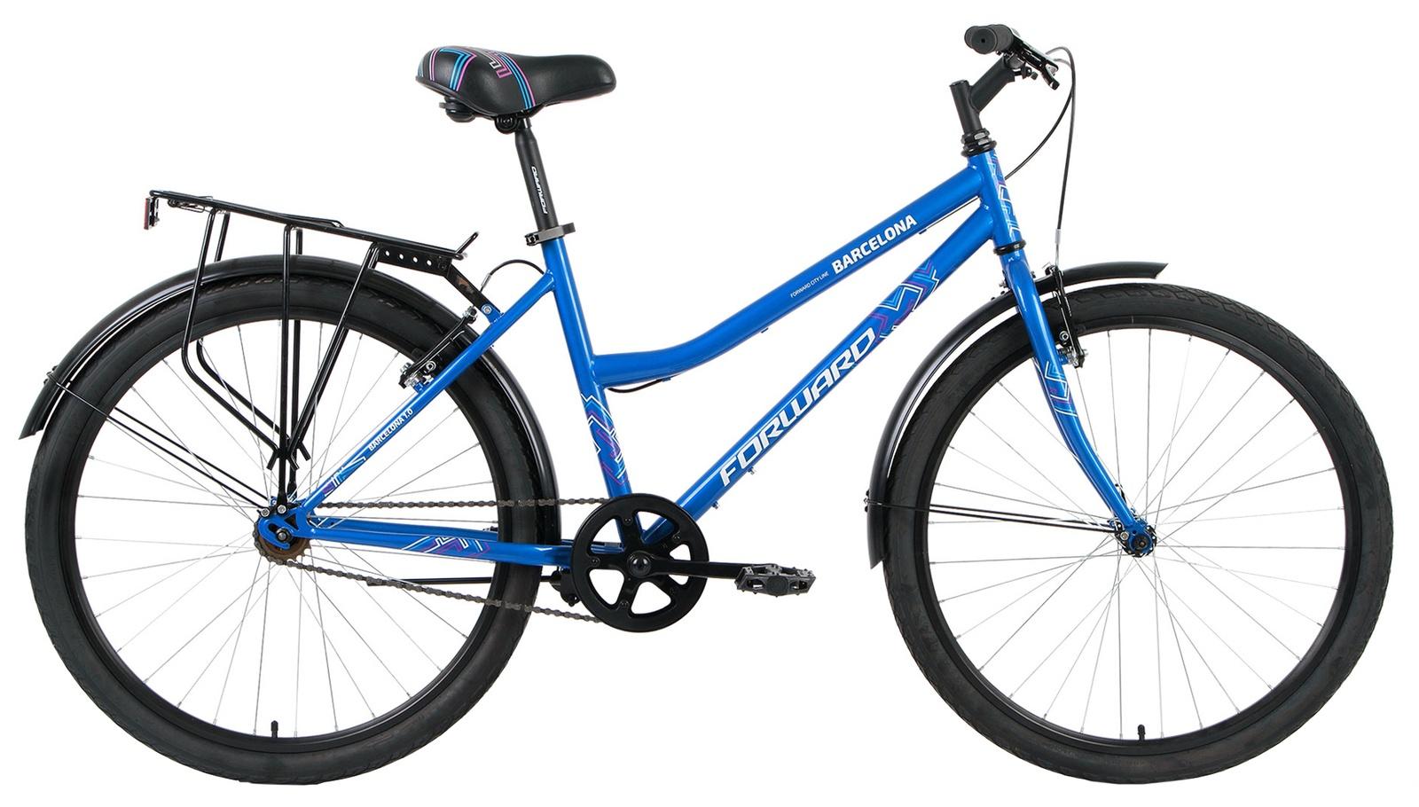 Дорожный Forward Barcelona 1.0, RBKW7UN61002, синий велосипед forward barcelona 1 0 2017 1 скорость рама 17 синий