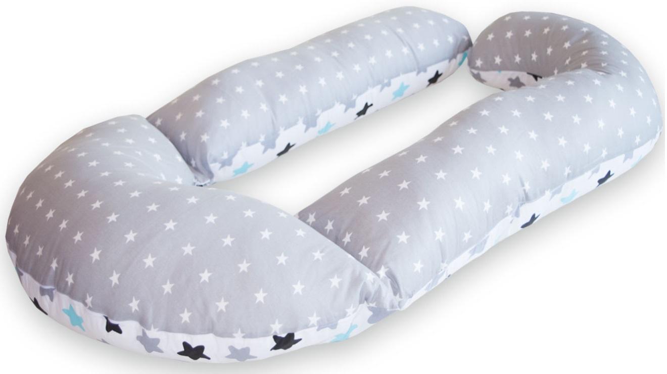 подушки для беременных Подушка для кормящих и беременных Premium Mama модель Perfection в форме G трансформер+наволочка+сумка переноска, белый, серый