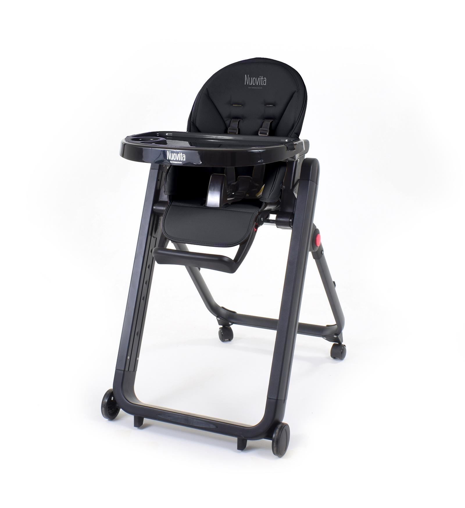 Стульчик для кормления Nuovita Стульчик для кормления Futuro Senso Nero стульчик для кормления nuovita futuro nero blu голубой