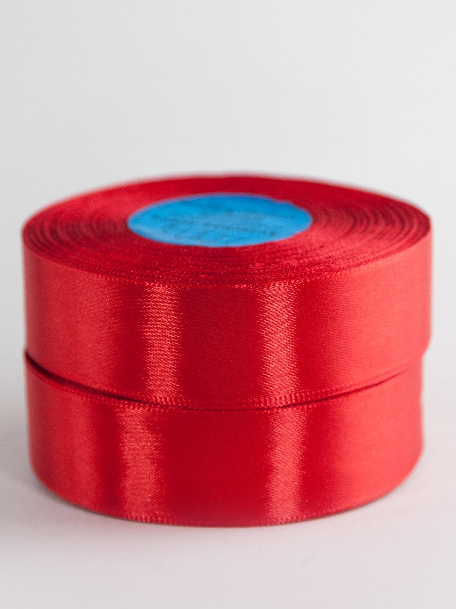 Лента Гамма / Gamma атласная, AL-2,5 25мм 33мх2боб./№026 красный