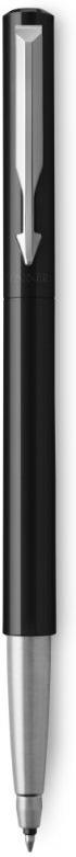 Ручка роллер Parker Vector Standard T01, 2025441, CT M, 1028940, черный ручка шариковая vector standard white пласт корпус белого цвета хром детали синие чернила m