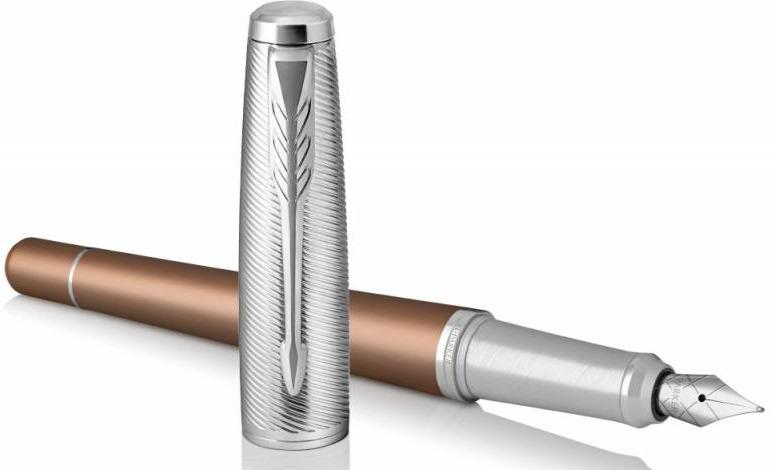 Ручка перьевая Parker Urban Premium F311, 1931625, CT F, 475366, коричневый ручка перьевая parker vector standard f03 2025443 stainless steel ct f перо сталь нержавеющая подар кор
