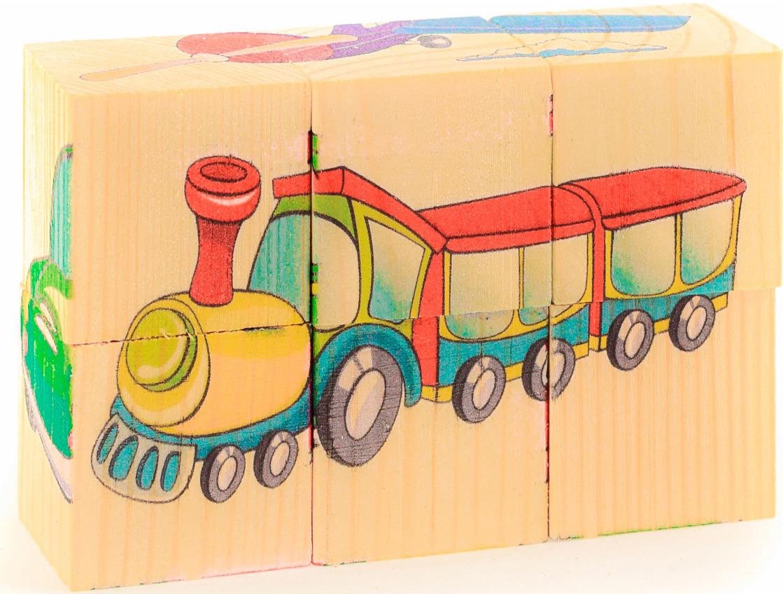 Кубики АНДАНТЕ Транспорт кубики русские деревянные игрушки транспорт 6 шт д488а