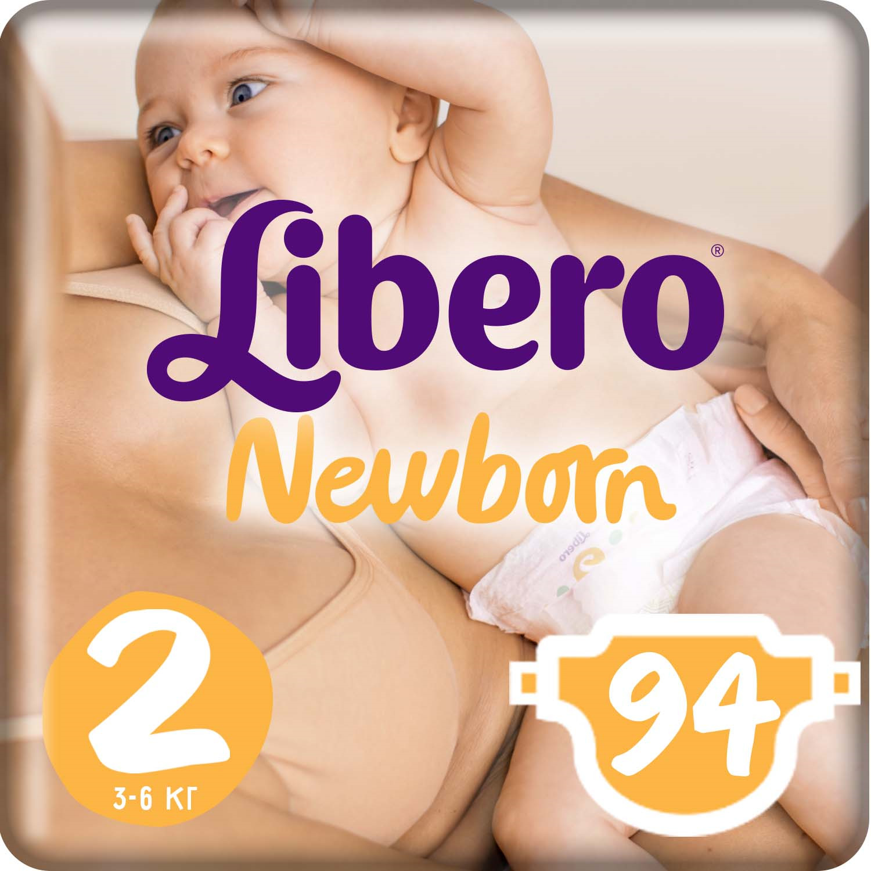 Libero Подгузники Newborn Size 2 (3-6 кг) 94 шт подгузники libero подгузники baby soft newborn 3 6 кг 94 шт