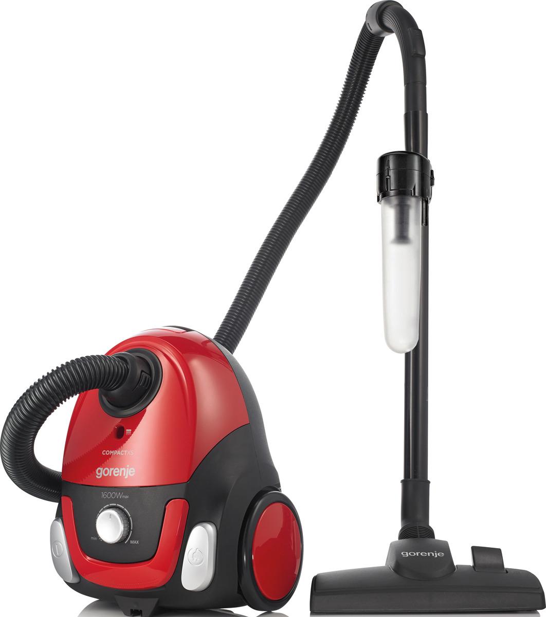 Бытовой пылесос Gorenje VC1615CXR, с мешком, 728292, красный бытовой пылесос gorenje vc1615cxr с мешком 728292 красный