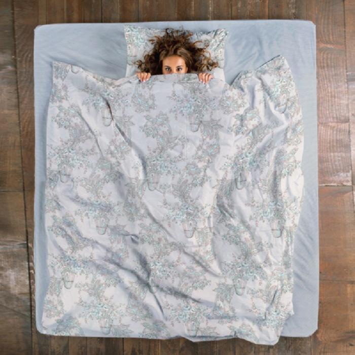 Комплект постельного белья ТК Традиция Sati, для сна и отдыха, 1554/Беатрис, голубой