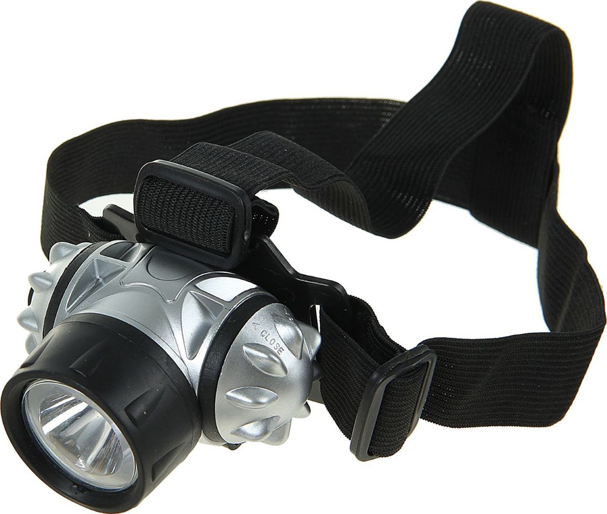 "Налобный фонарь ""Атака"", 1 LED, 555021, серебристый, черный"