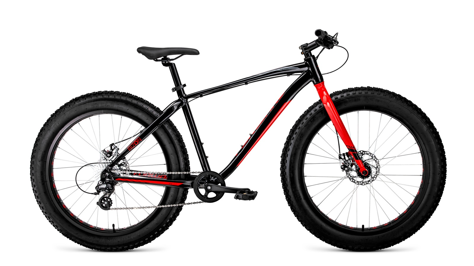 Велосипед Forward BIZON 26, RBKW9W668003, черный, красный
