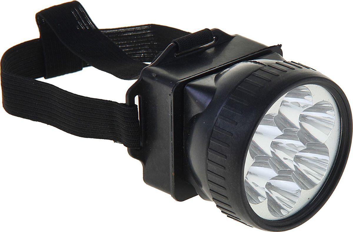 """Налобный фонарь """"Ночь"""", 7 LED, 1268445, черный"""