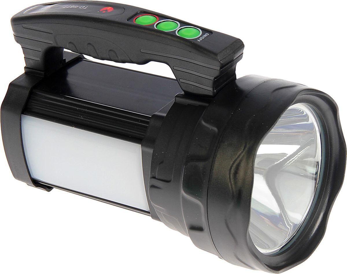 Ручной фонарь td-6677, светодиодный, диод t6, 50W, 8 режимов, 3138718, разноцветный