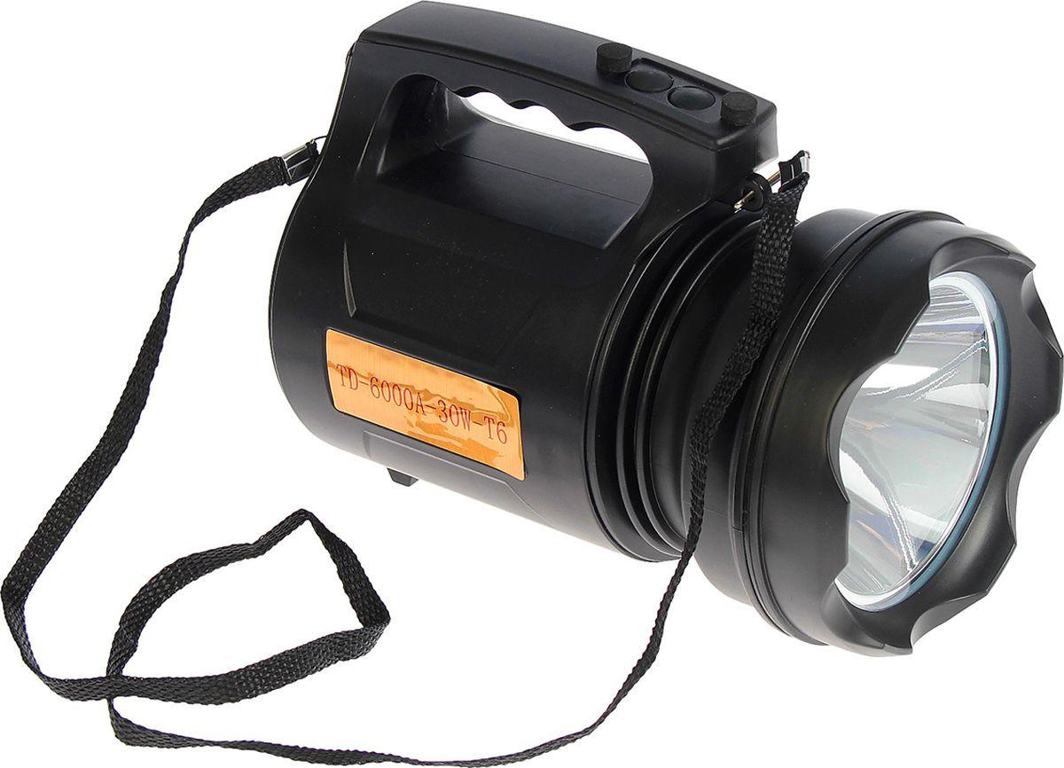 Ручной фонарь td-6000a, светодиодный, диод t6, 30W, 3 режима, 3138719, разноцветный
