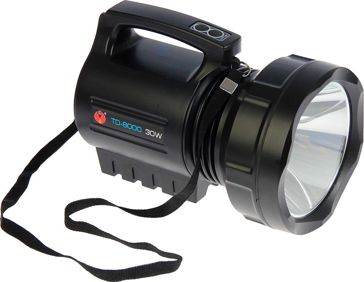 Ручной фонарь td-8000, светодиодный, диод t6, 30W, 3 режима, 3138723, разноцветный