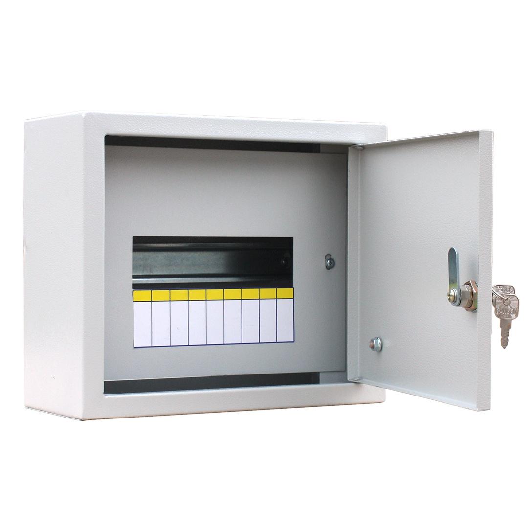 Блок комплексной защиты сети RUCELF Щит распределительный навесной ЩРН-12 IP31 2,5 кг, серый навесной распределительный щит щрн 9 ip54 250х300х120мм rucelf 00002247