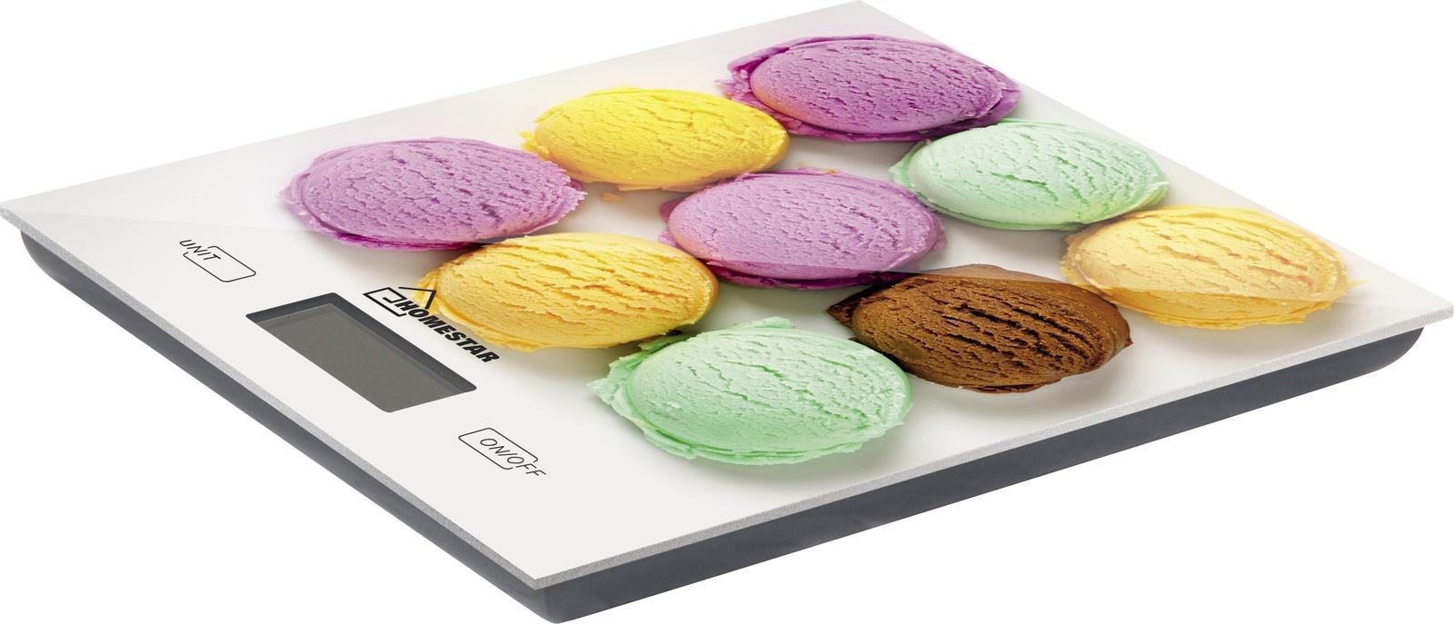 Кухонные весы HOMESTAR HS-3006 мороженое, 54 004537, белый