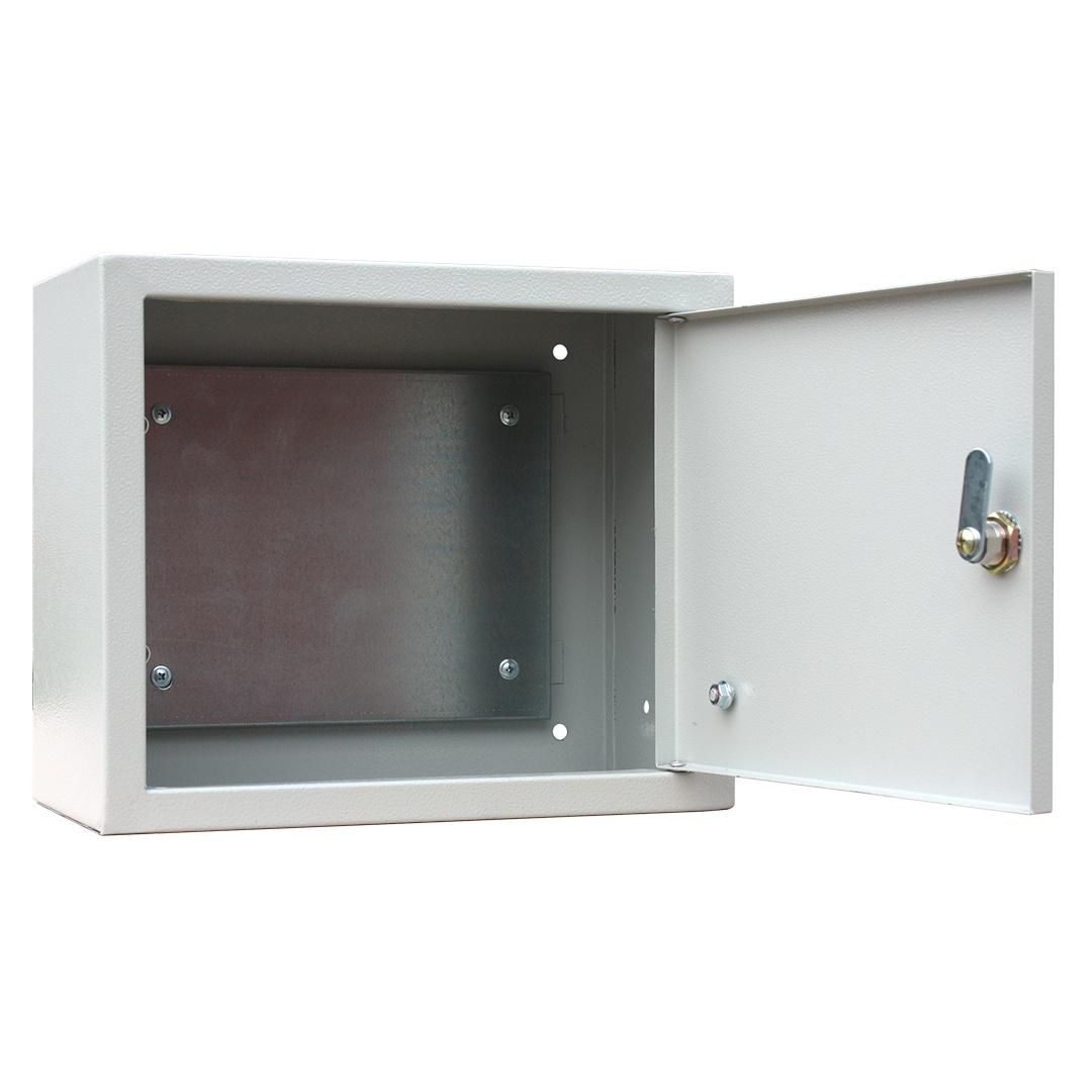 Короб установочный RUCELF Щит с монтажной панелью ЩМП-02 IP31 2,4 кг, серый щит rucelf щру 3н 25 ip31
