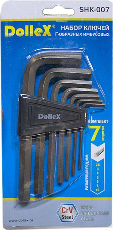 Набор ключей DolleX, Г-образные, АВТОЛГ_450, серый металлик, 7 шт