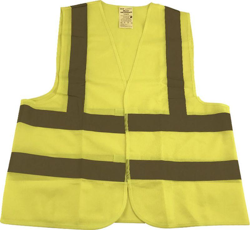 Жилет аварийный DolleX, сигнальный, со световозвращающими элементами, АВТОЛГ_364, желтый, размер XL жилет аварийный dollex сигнальный со световозвращающими элементами автолг 369 оранжевый размер xl