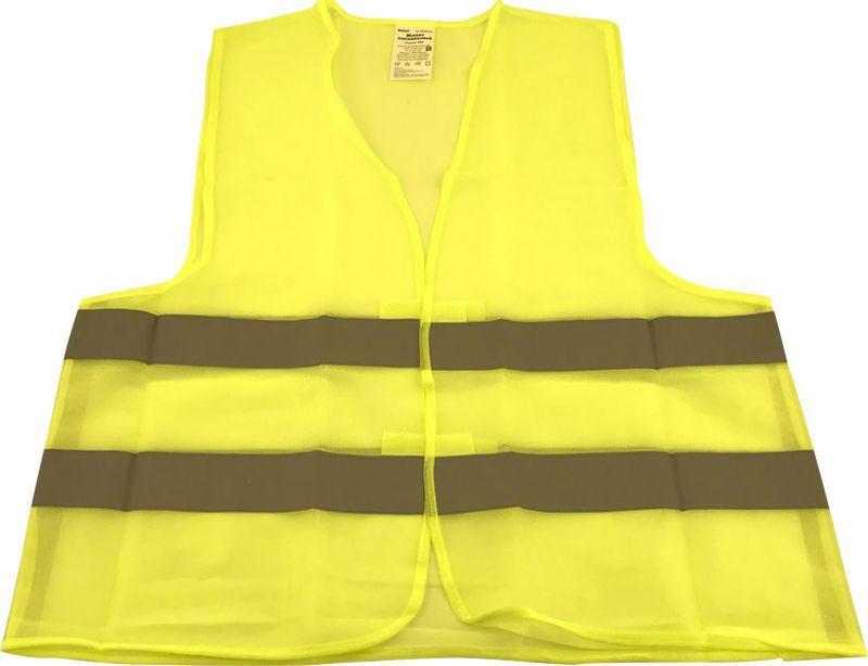 цены на Жилет аварийный DolleX, сигнальный, со световозвращающими элементами, АВТОЛГ_365, желтый, размер XXL  в интернет-магазинах