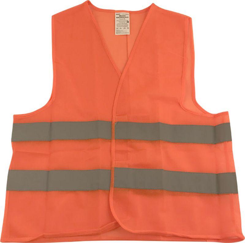 цены на Жилет аварийный DolleX, сигнальный, со световозвращающими элементами, АВТОЛГ_370, оранжевый, размер XXL  в интернет-магазинах