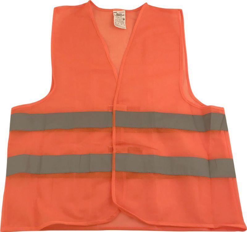 цены на Жилет аварийный DolleX, сигнальный, со световозвращающими элементами, АВТОЛГ_371, оранжевый, размер 3XL  в интернет-магазинах