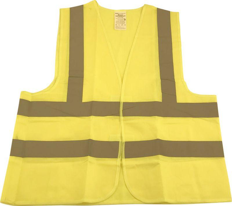 цены на Жилет аварийный DolleX, сигнальный, со световозвращающими элементами, АВТОЛГ_366, желтый, размер XXL  в интернет-магазинах