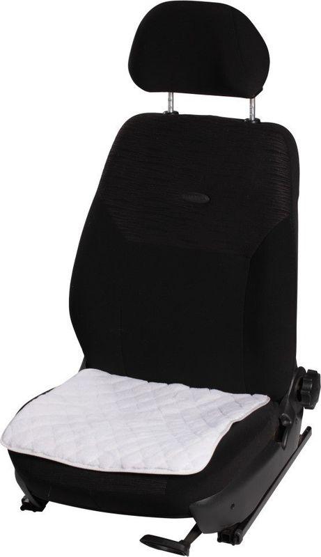 Автомобильная подушка Airline, на сиденье, с коротким ворсом, АВТОЛГ_461, белый цена и фото