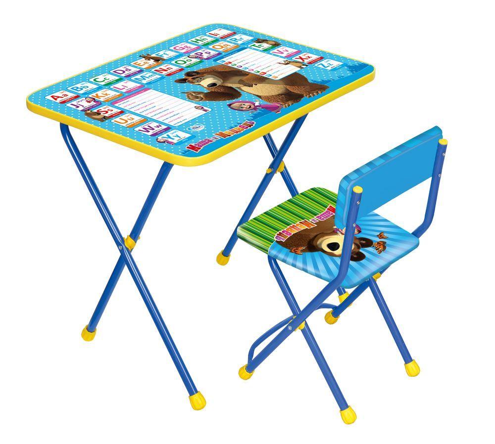 Набор детской мебели Ника Английская азбука, КП2/4, синий наборы детской мебели ника познайка кп2 хочу все знать