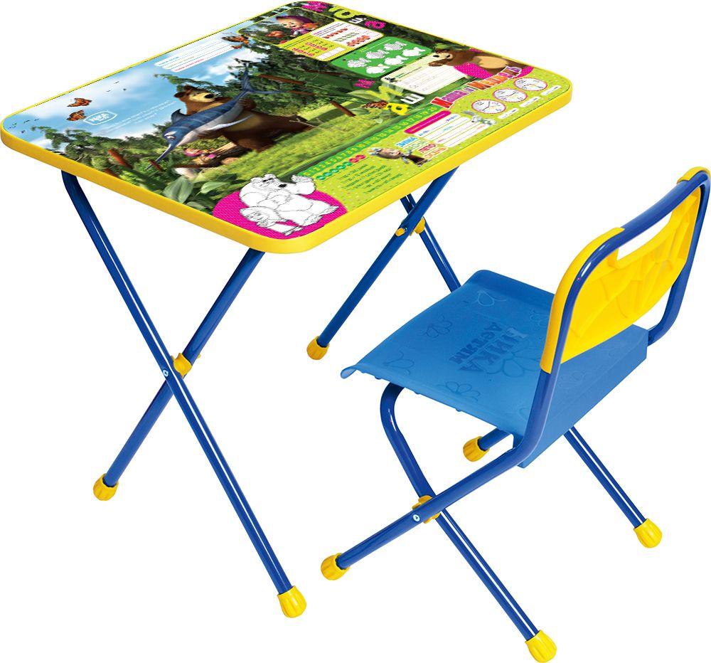 Набор детской мебели Ника Маша и медведь, КП2/5, синий наборы детской мебели ника познайка кп2 хочу все знать