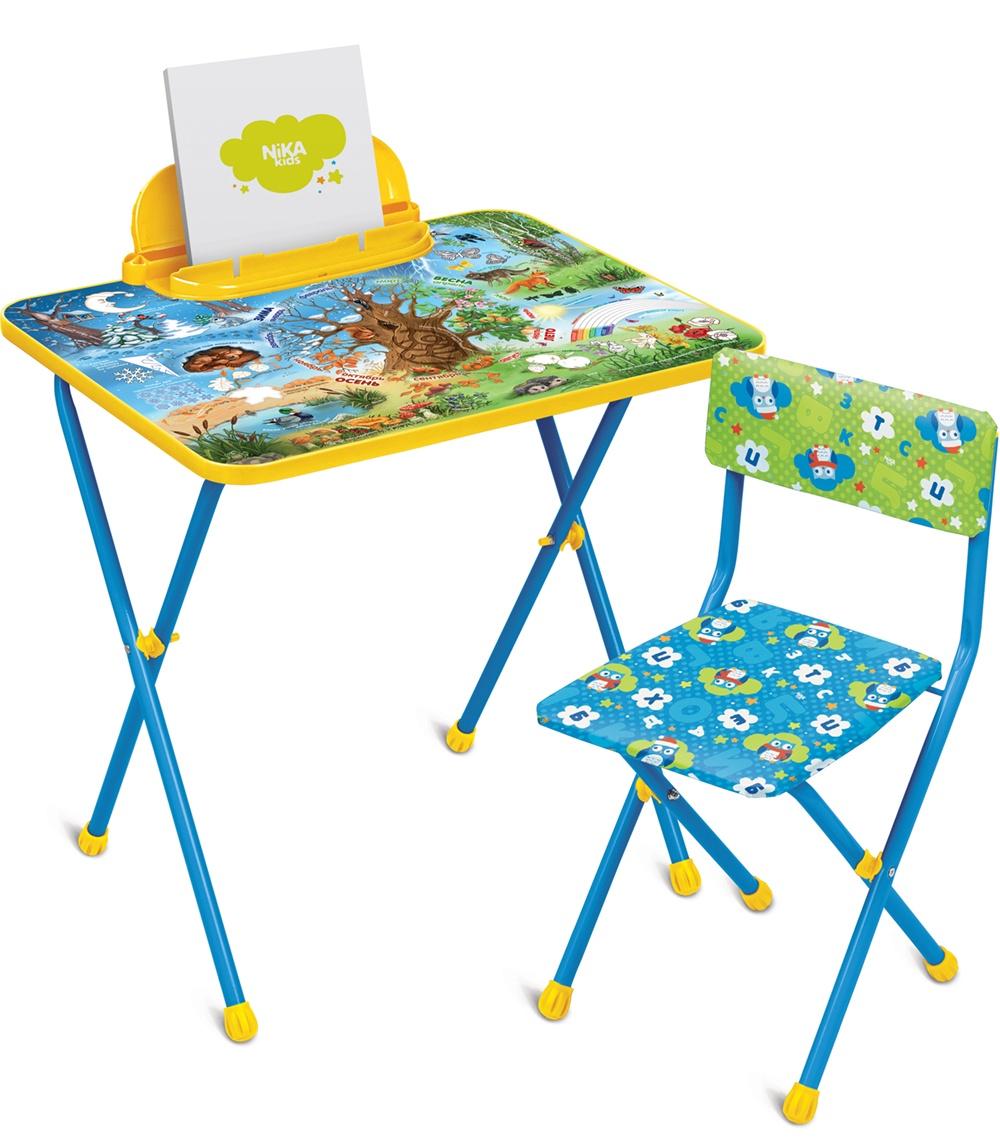 Набор детской мебели Ника Хочу все знать, КП2/7, синий наборы детской мебели ника познайка кп2 хочу все знать